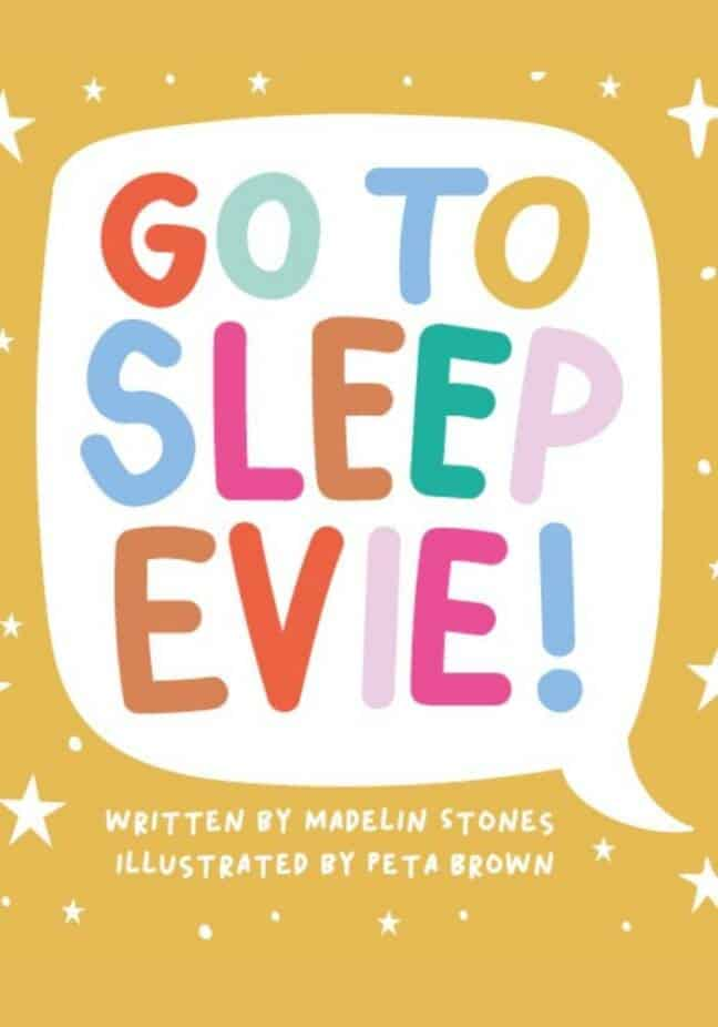 Go to sleep Evie books online cover
